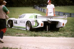 Bob Tullius / Chip Robinson - Jaguar XJR-5 comes to a stop before the carousel.