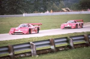 Al Leon / Randy Lanier - March 85G/Porsche is chased by the Art Leon / Skeeter McKitterick - March 84G/Chevrolet