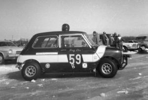 Terry Orr completed his first year of iceracing in this Mini Cooper.