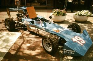 Jerry Griffin's Royale RP-18A Formula Continental on display on the Nicollet Mall days before the races.