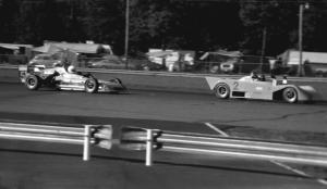 David Harris's Tiga SC80 Sports 2000 leads Tod Tuttle's Crossle 34F Formula Continental out of turn 10.