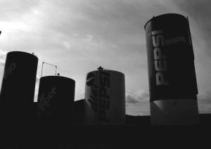 Pop can silos in Utah.