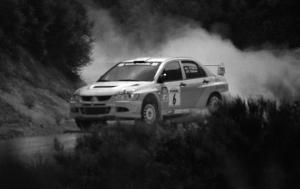 Lauchlin O'Sullivan / Christian Edstrom Mitsubishi Lancer Evo 8 on the practice stage