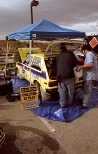 The Jeff Shu / Claire Chizma Toyota Starlet before Parc Expose
