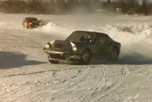 Scotty Bell's SAAB Sonnet II leads the Herm Johnson / Adam Popp Dodge Colt