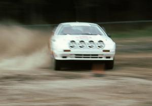 Rod Millen / Harry Ward at the fairground super special stage in their All-wheel drive Open class Mazda RX-7.