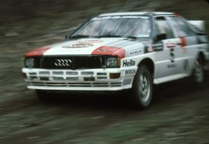 Bruno Kreibich / Clark Bond Audi Quattro on SS2.