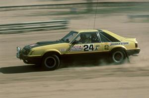 Don Rathgeber / John Huber in the Hairy Canary Racing Mustang.