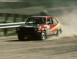 Jody Lift / Tony Turnlund in their VW GTI.