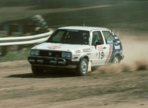 Nelson Shepard / Tom Burgess in their P class VW GTI.