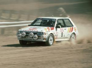 Scott Child / Steve Laverty in their Gr. A Toyota FX-16.