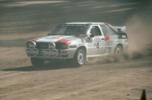 Bruno Kreibich / Clark Bond in their Audi Quattro.
