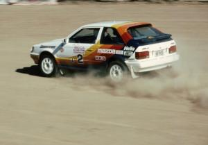 Rod Millen / Harry Ward in their Gr. A Mazda 323GTX.