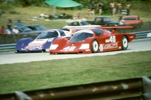 Tim McAdam / Chip Mead / John Higgins Fabcar CL/Porsche and  Jim Adams / John Hotchkis Porsche 962