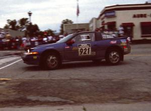 Howie Richards / Joel Richards Mitsubishi Eclipse on SS10 (In Town)