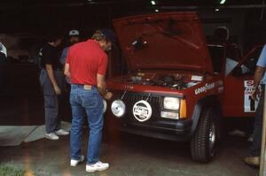 Roger Hull / Rob Cherry were entered in a Jeep Comanche, seen going through tech inspection on Friday morning.