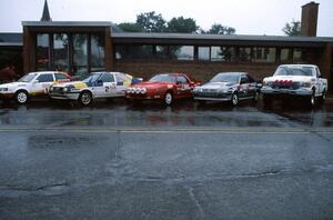 "The top five ""big dogs"" of 1989 rallying lined up at parc expose."