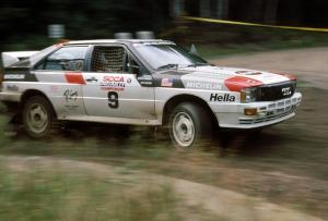 Bruno Kreibich / Jeff Becker in their Audi Quattro.