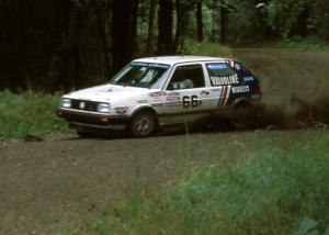 Tim O'Neil / Martin Headland nailed the hairpin perfectly in their P class VW GTI.