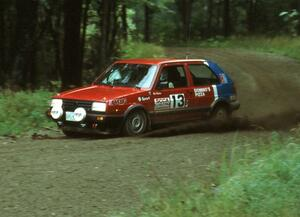 Cal Landau / Eric Marcus in their VW GTI.