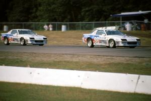 (98) Kim Baker / Doc Bundy and (97) John Heinricy / Don Knowles Chevy Camaros