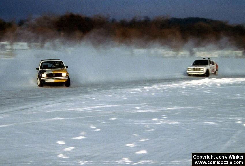 Kyle Smith / Klint Smith VW Rabbit and Wally Rennick / Bill Nelson Dodge Omni