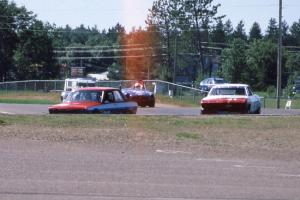 96) Scotty Bell's GT3 Datsun 510 ahead of 41) ???'s GT3 Chevy Corvair and 72) Mike Froh's E Production MGB