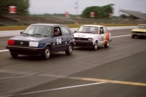Dave Brown's ITB VW Golf, Randy Jokela's ITC Toyota Starlet and Greg Youngdahl's ITB Opel Manta