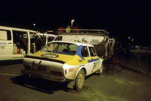 The Goran Ostlund / Steve Baker SAAB 99 gets serviced in Mahnomen.