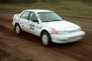 Tom Ottey / Pam McGarvey debuted their borrowed Hyundai Elantra at the practice stage.