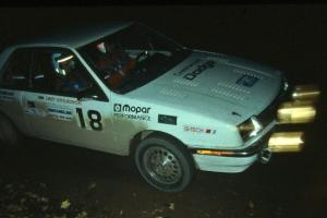 Henry Krolikowski / Cindy Krolikowski were fourth overall, and Group 5 winners, in their Dodge Shadow.