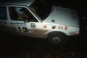 Wayne Prochaska / Annette Prochaska were 15th overall, and second in Group 2, in their VW Golf.