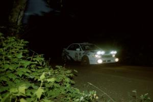 Jonathan Bottoms / Carolyn Bosley Subaru WRX on SS4, Blue Trail.