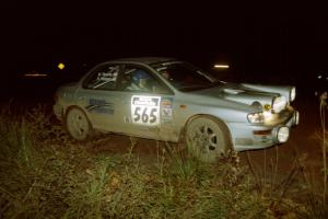 Russ Hodges / Mike Rossey Subaru WRX on SS3, Estes Lake.