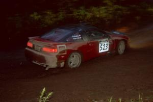 Cary Kendall / Scott Friberg Eagle Talon at the first corner of SS15, Gratiot Lake II.