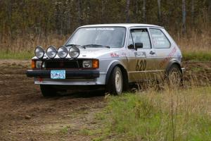 Chris Wilke / Mike Wren VW Rabbit at the Parkway Forest Rd. chicane.
