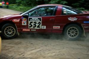 Dave LaFavor / Chris Huntington Eagle Talon was an ealy DNF seen here on SS1.