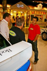 Pat Richard converses with Graham Evans and ??? at Rallyfest at the Mall of America.