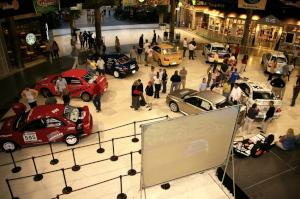 Overhead view of Rallyfest at the Mall of America the Wednesday before Ojibwe. (1)