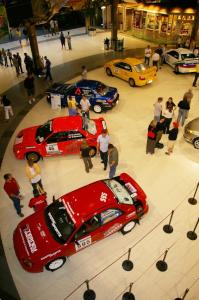 Overhead view of Rallyfest at the Mall of America the Wednesday before Ojibwe. (2)