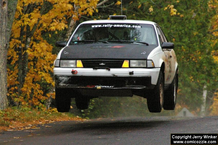Joel Sanford Jeff Hribar Chevy Cavalier Catches Some Nice Air At The Midpoint Jump On Brockway