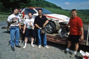 Steve Gingras / Bill Westrick Mitsubishi Eclipse GSX with Tim and Larry, their crew.