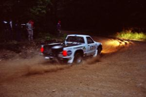 Ken Stewart / Jim Dale Chevy S-10 Pickup at a 90-left on SS7, Wilson Run I.